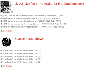 dyLAB Radio Shows